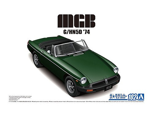 Aoshima Model Car No.102 1/24 MGB G/HN5D '74