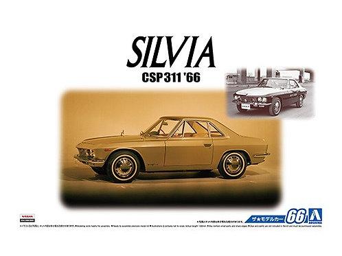 Aoshima Model Car No.66 1/24 Nissan Silvia CSP31 '66