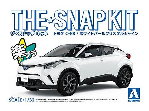 Aoshima Snap Kit 1/32 Toyota C-HR (White Pearl Crystal Shine]