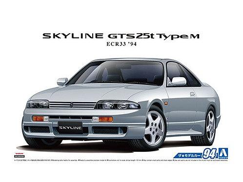 Aoshima Model Car No.94 1/24 Nissan Skyline GTS25t TypeM ECR33 '94