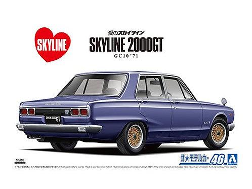 Aoshima Model Car No.46 1/24 Nissan Skyline 2000GT GC10 '71
