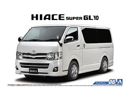 Aoshima Model Car No.6 1/24 Toyota Hiace Super GL'10