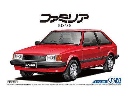 Aoshima Model Car No.80 1/24 Mazda Familia BD '80