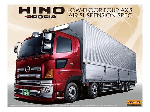 Aoshima Heavy Freight 1/32 Hino Profia Low-Floor Four Axis Air Suspension Spec