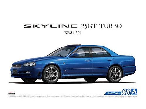 Aoshima Model Car No.88  1/24 Nissan Skyline 25GT Turbo ER34  '01