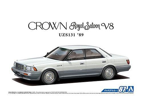 Aoshima Model Car No.87 1/24 Toyota Crown Royal Saloon V8 UZS131 '89