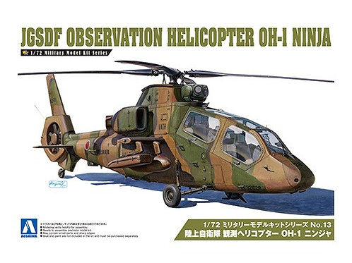 Aoshima Military Model 1/72 JGSDF Observation Helicopter OH-1 Ninja