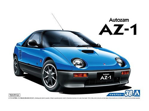 Aoshima Model Car No.38 1/24 Mazda Autozam AZ-1 '92