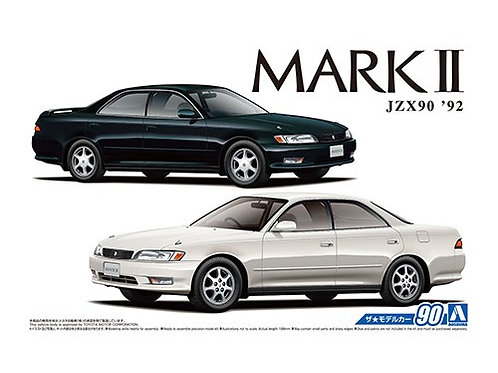 Aoshima Model Car No.90 1/24 Toyota Mark II JZX90   '92