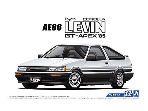 Aoshima Model Car No.17 1/24 Toyota AE86 Corolla Levin GT-APEX '85