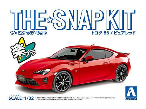 Aoshima Snap Kit 3-F 1/32 Toyota 86 [Pure Red]