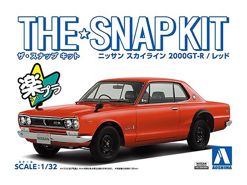 Aoshima Snap Kit 9-C 1/32 Nissan Skyline 2000GT-R[Red]