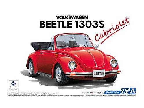 Aoshima Model Car No.75 1/24 Volkswagen Beetle 1303S Cabriolet '75