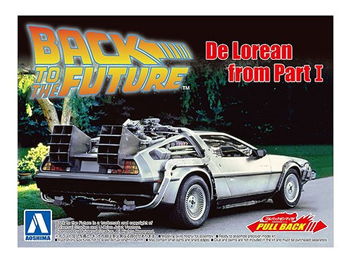 Aoshima Back to the Future I 1/43 Delorean [w/Pullback Function]