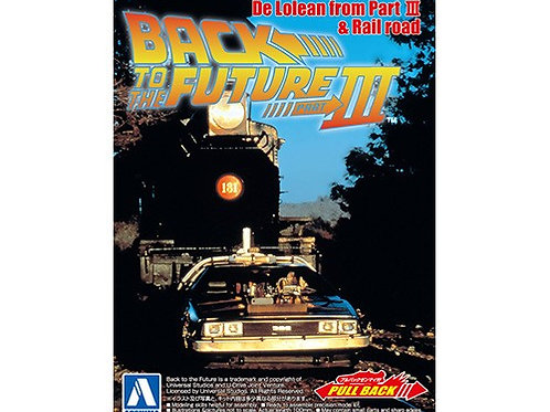 Aoshima Back to the Future III 1/43 Delorean [w/Pullback Function]
