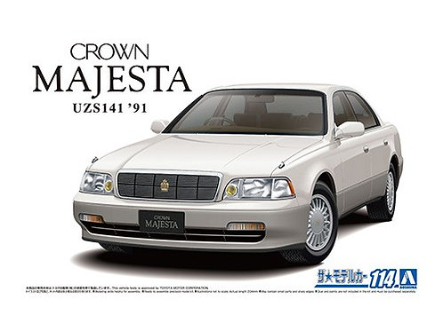 Aoshima Model Car No.114 1/24 Toyota Crown Majesta UZS141 '91