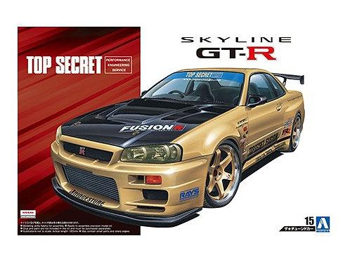 Aoshima Tuned Car 1/24 Nissan Skyline GTR [Top Secret]