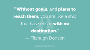 """Without goals, and plans to reach them, you are like a ship that has set sail with no destination."" — Fitzhugh Dodson."