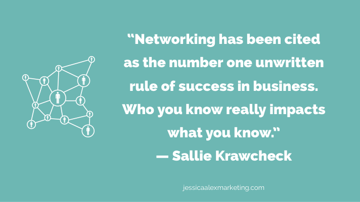 Sallie Krawcheck networking quote