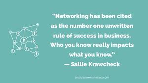 Sallie Krawcheck networking quote