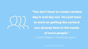 Derek Halpern content marketing quote