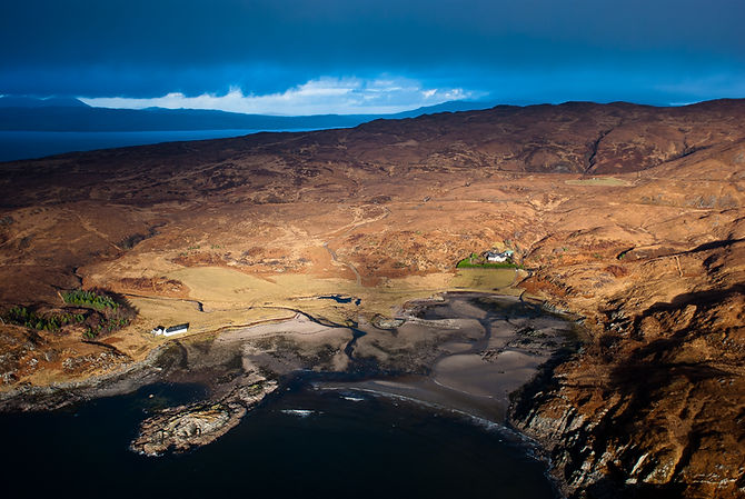 Sandaig Bay by Helicopter