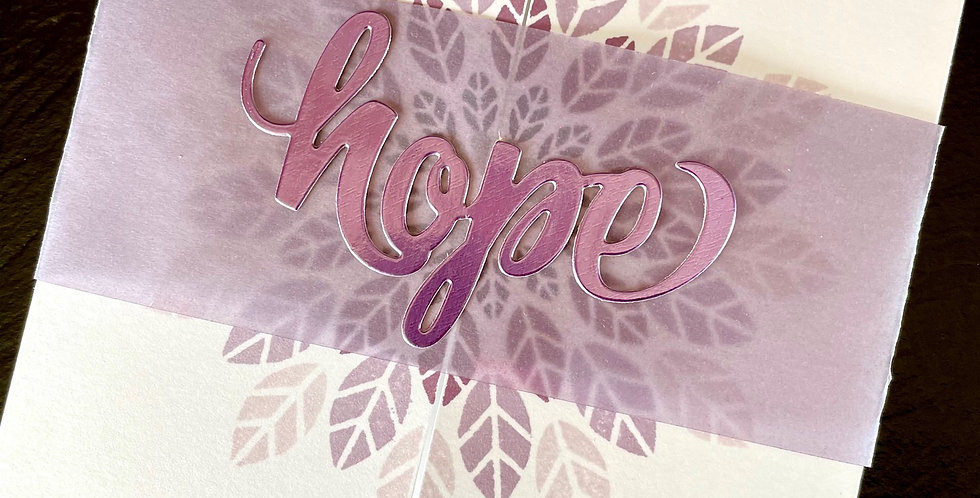 Hope Belly-Band Card by Darcy