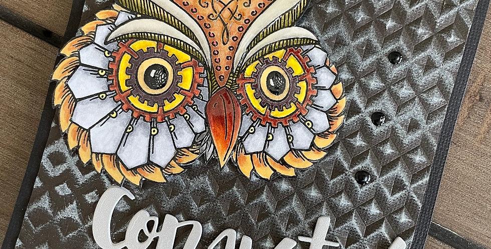 Metallic Owl Congrats by Darcy