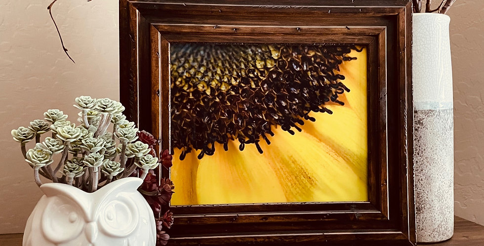 Sunflower Framed