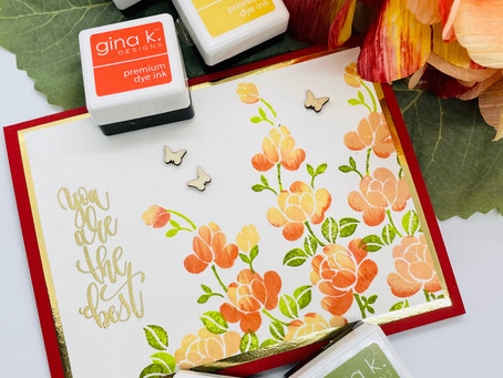 What To Do With The Freebie Stamp Set From Gina K Designs