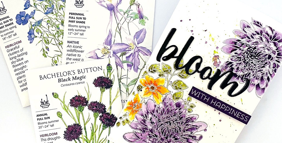 Bloom With Happiness Seed Packet by Darcy