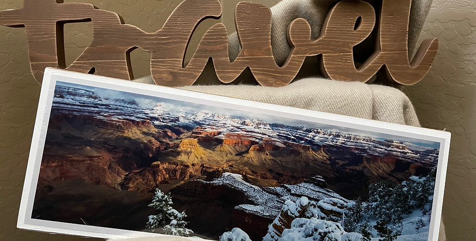 Gand Canyon Snow Day Print
