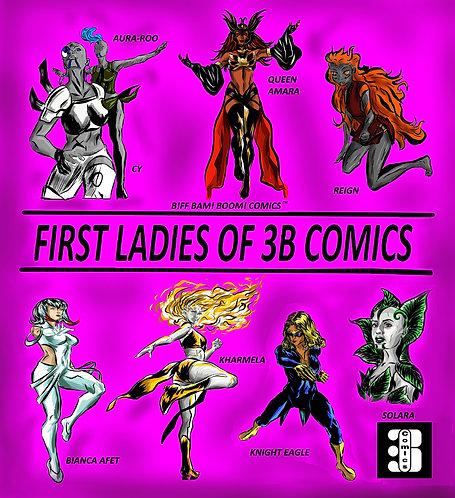 The Ladies of 3B Comics Poster (11x14)