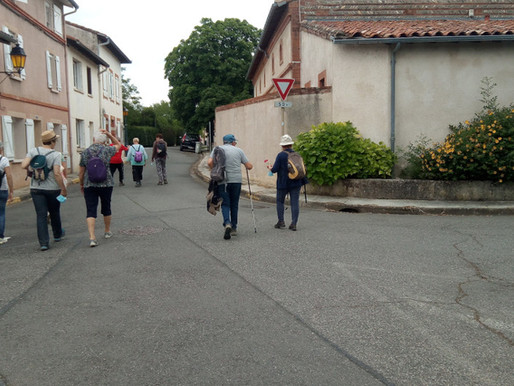 """Le jeudi3 juin 2021 """"Balade à Saubens""""."""