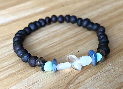 Cancer : Baltic Amber Zodiac Bracelet