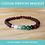 Thumbnail: CUSTOM Amber & Crystal Stretchy Bracelet