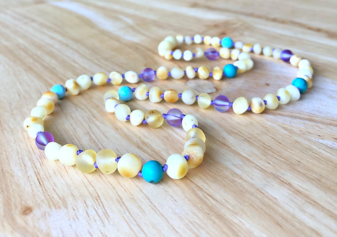 Moonchild : Baltic Amber Teething Necklace