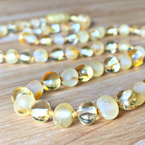 Mellow Yellow : Baltic Amber Teething Necklace