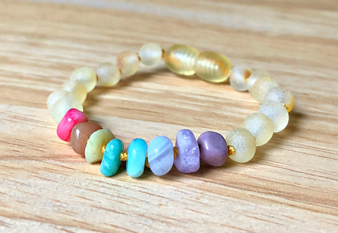 Fruity Pebbles : Baltic Amber Teething Anklet