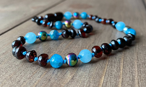 Starshine : Polished Baltic Amber Teething Necklace