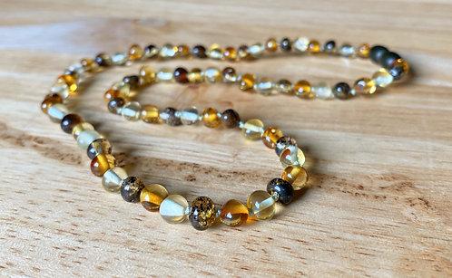 Tupelo Honey : Polished Kid's Baltic Amber Necklace