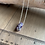 """Thumbnail: 18"""" Amethyst Crystal Point Chain Necklace"""