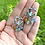 Thumbnail: Heart Earrings with Pastel Rainbow & Holographic Aura Quartz