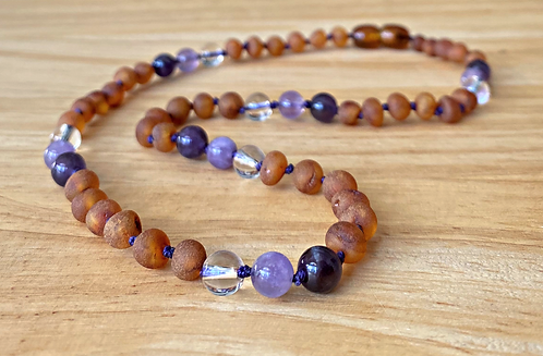 Lavender Latte : Baltic Amber Teething Necklace