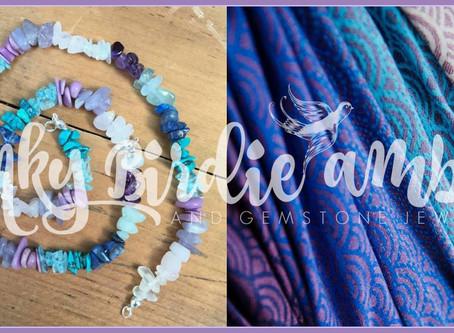 Custom Baby-Wrap Inspired Gemstone & Amber Jewelry