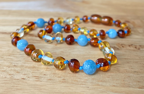 Dewdrop : Baltic Amber Teething Necklace