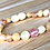 Thumbnail: Strawberries & Cream : Unpolished Baltic Amber Teething Anklet