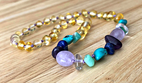 Mermaid Tails : Baltic Amber Teething Necklace