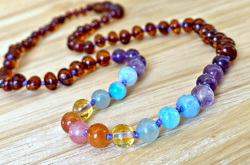 Sugar High : Uplifting Baltic Amber & Gemstone Necklace