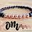 Thumbnail: Om : Rose Gold Hematite + Baltic Amber Stretchy Bracelet